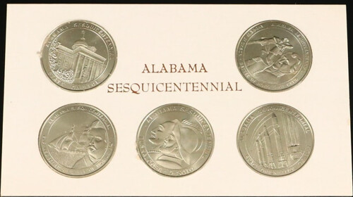 Alabama sesquicentennial medals