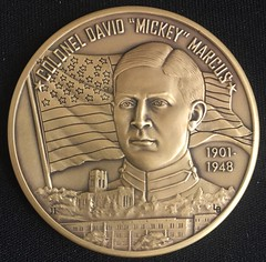 Mickey Marcus medal obverse