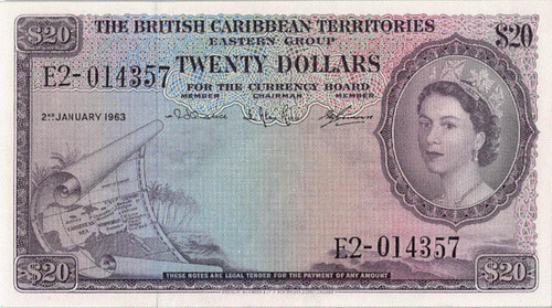 1963 British Caribbean Territories $20