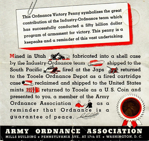 Ordnance Victory Penny card
