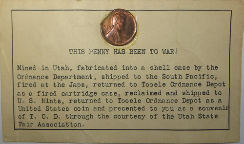 This Penny Has Been to War card