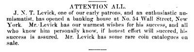 Mason-Levick, Banking House