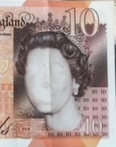 £10 error note without Queen's portrait