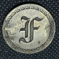 Counterfeit Liberty Seated Love Token letter F reverse