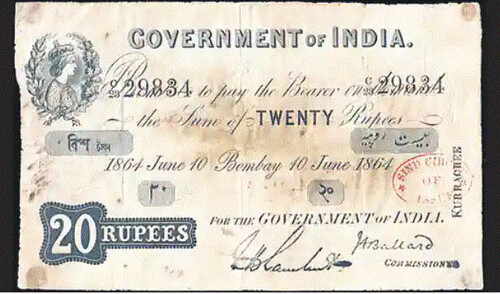 Government of India 20 Rupees note