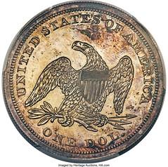 1866 No Motto Dollar Rev