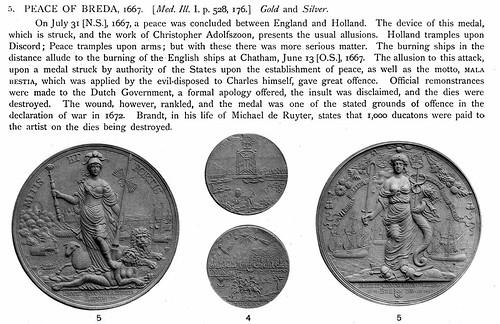 Medallic Illustrations Peace of Breda medal plate