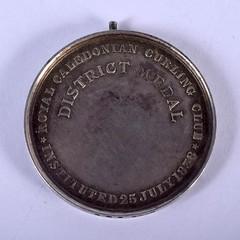 1908 Birmingham Curling Club Medal reverse