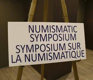 Ontario Numismatic Association symposium sign