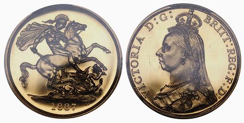 1887 Proof Victoria 2 Pounds