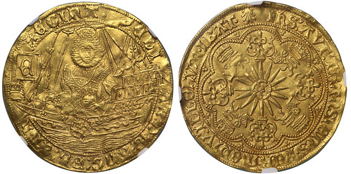 SOVR sale 3 lot 030  Dutch issue Ryal of Queen Elizabeth I