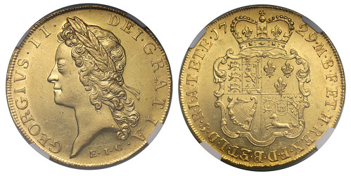 SOVR sale 3 lot 039 George II Five Guineas East India Company issue of 1729