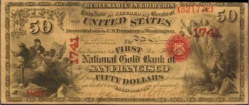National Gold Bank of San Francisco $50 front