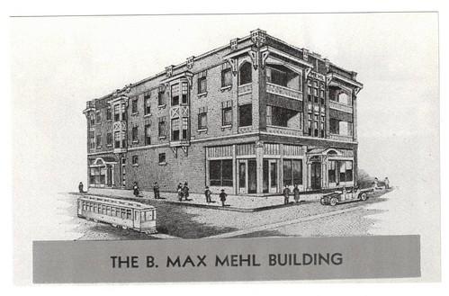 B. Max Mehl Building architect sketch