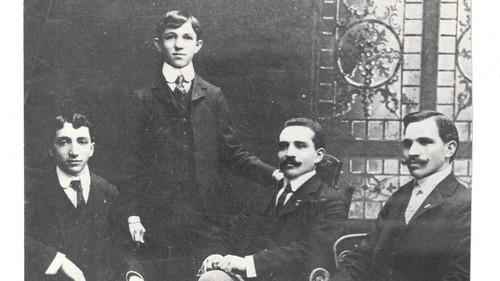 Mehl Bros. 1900, from left. Meyer, B.Max, Abe, oldest, Israel N.