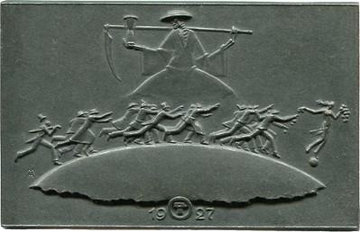 Heinrich Moshage New Year 1927 plaque