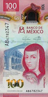 2020 Banco de Mexico 100 pesos front