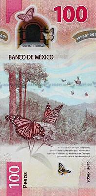 2020 Banco de Mexico 100 pesos back