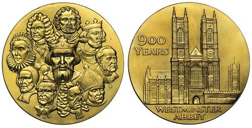 1965 Westminster Abbey Gold Medal