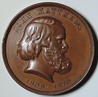John Henry Matthews 1808-1870 medal obverse