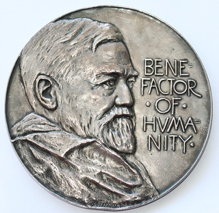 Tiffany Andrew Carnegie Pan-American Building medal obverse