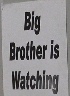 Collectorama Show sign Big Brother is Watching