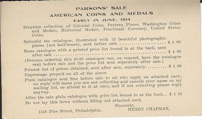 PARSONS-1914 Chapman postcard