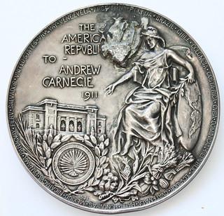 Tiffany Andrew Carnegie Pan-American Building medal reverse