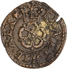 farthing of Charles I of England reverse