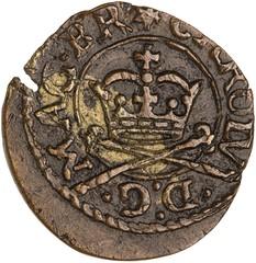 farthing of Charles I of England obverse