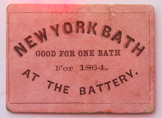 New York Bath cardbosrd scrip
