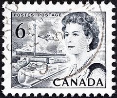 1967 Canada Queen Elizabeth II postage stamp