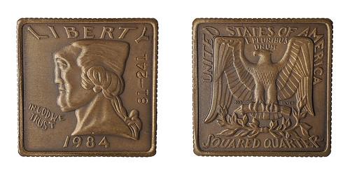 Bronze squared quarter