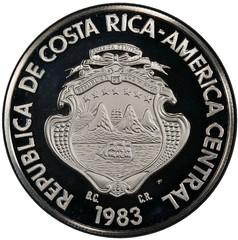 1983 Costa Rica 250 colones obverse