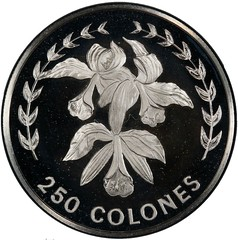 1983 Costa Rica 250 colones reverse