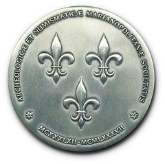 Numismatic Society of Montreal silver medal Obverse