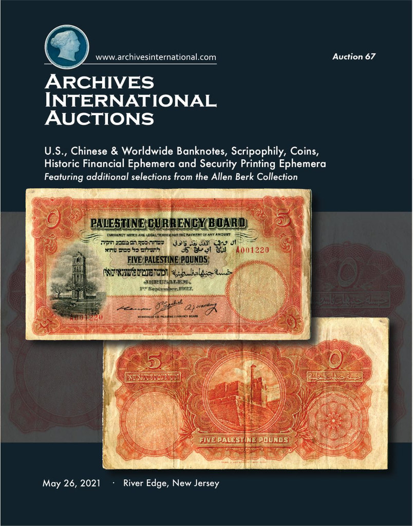 Archives International Sale 67 cover front