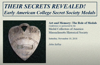Early American College Secret Society Medals