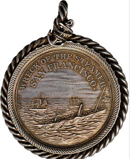 1854 Rescue of the S.S. San Francisco Medal obverse
