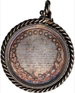 1854 Rescue of the S.S. San Francisco Medal revrse