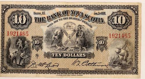Bank of Nova Scotia $10 Note