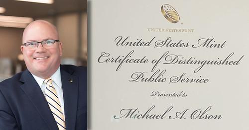 Michael Olson Receives U.S. Mint Director Award