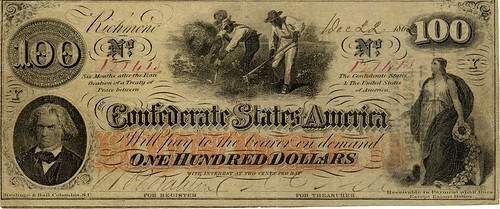 Confederate $100 note