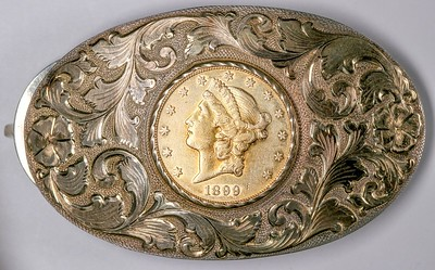 Belt Buckle with 1899 Double Eagle
