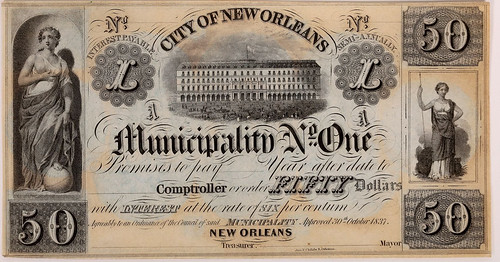 New Orleans Municipality No. One $50 Note