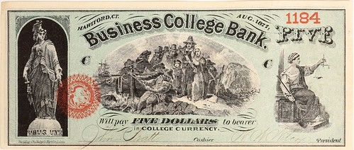 Business College Bank Note