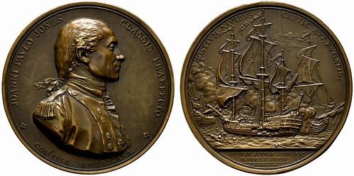1779 John Paul Jones Comitia Americana Medal
