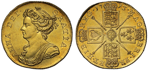 1713 Anne Two Guineas