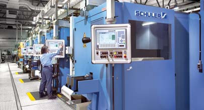 Schuler horizontal minting presses