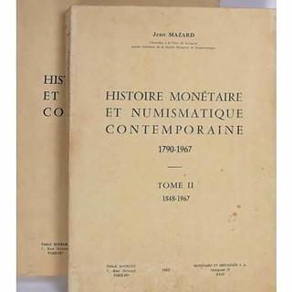 Lot 2021 Histoire monetaire et numismatique contemporane